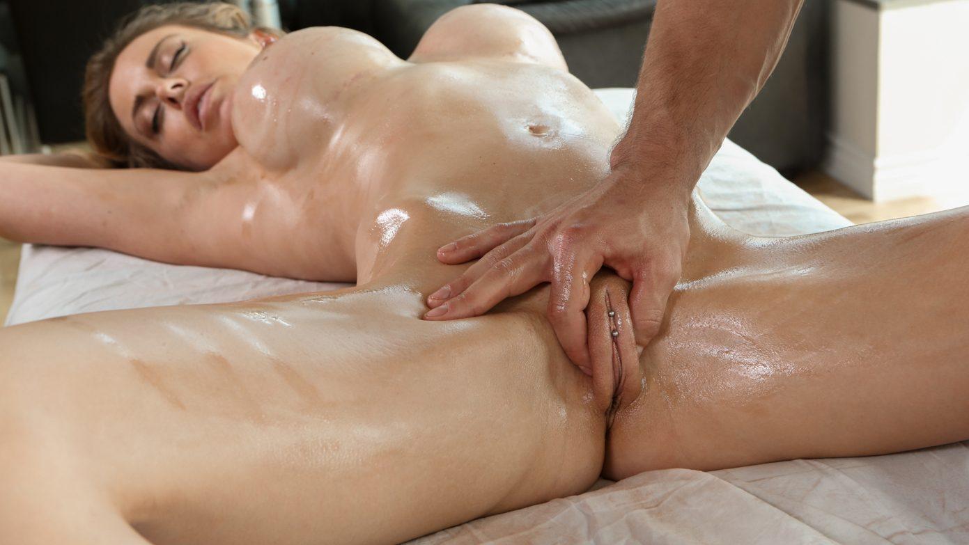 Naughty girl fucked during massage
